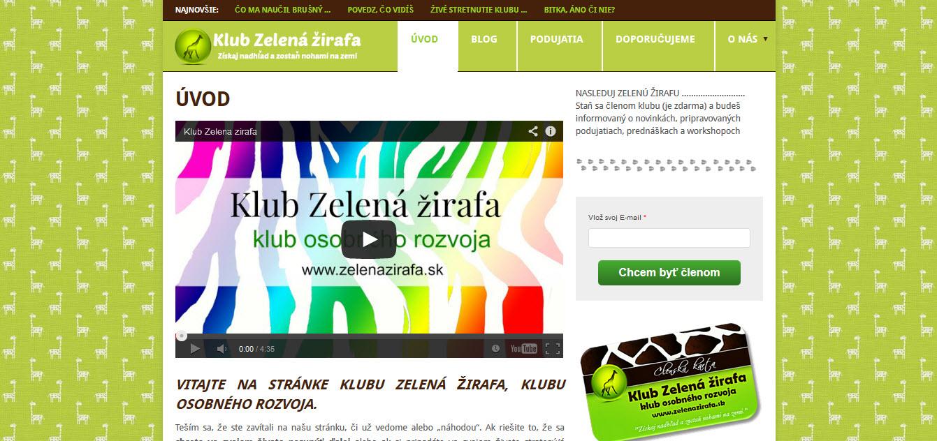 banner zelena zirafa