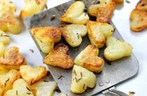 opekane zemiaky srdiecka
