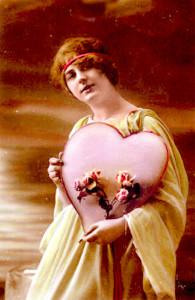 valentinska pohladnica z roku 1910