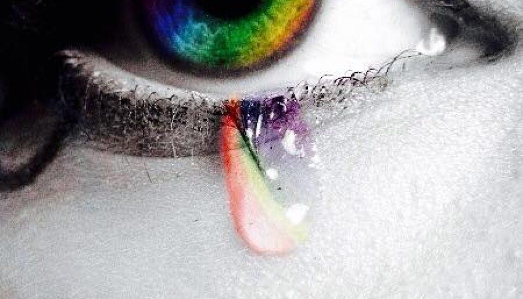 slza v oku