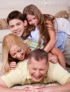 smiech rodiny