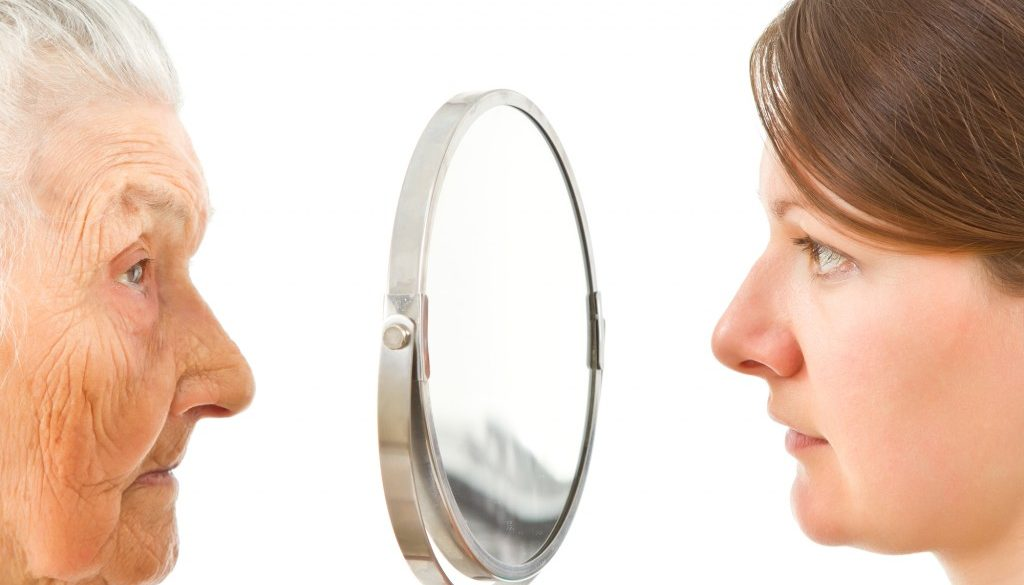 the two sides of a mirror