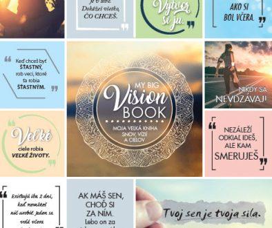 Tvoj sen je tvoja sila! Kniha MY BIG VISION BOOK- Moja veľká kniha snov, vízií a cieľov